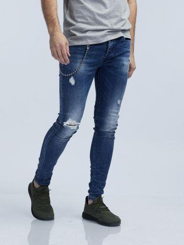 LAD סקיני ג'ינס גראנג'י כחול