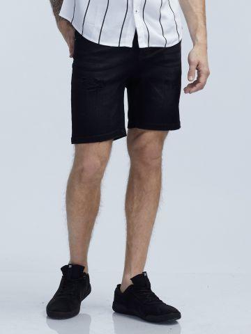 מכנסי ברמודה שחורים