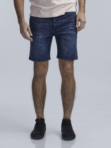 ברמודת ג'ינס סלים פיט קרעים