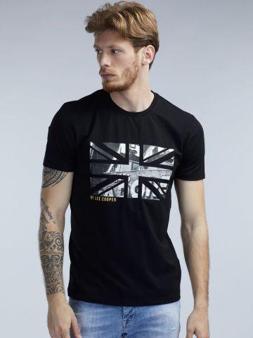 חולצת טי הדפס דגל
