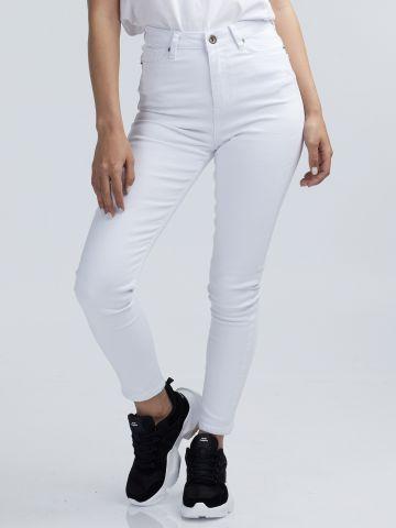 ג'ינס לבן גבוה
