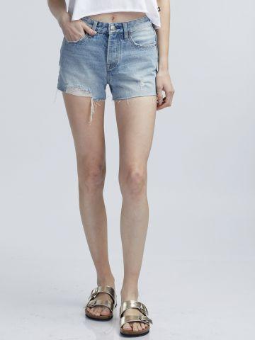מכנסי ג'ינס קצרים 100% כותנה