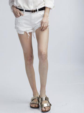 מכנסי ג'ינס טיילור בצבע לבן