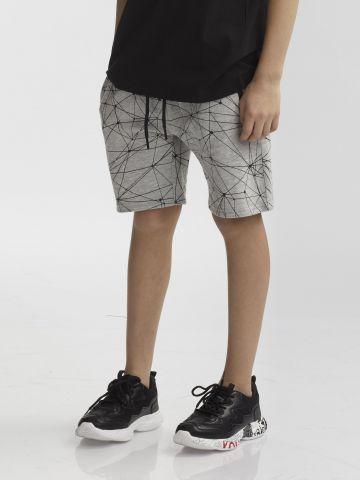 מכנסיים קצרים הדפס הנדסי