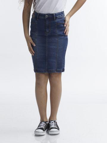 חצאית עפרון ג'ינס צרה