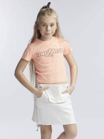 חולצת טי נאון חתיכית