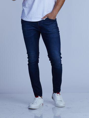 MARTIN ג'ינס סקיני כחול בגובה בינוני
