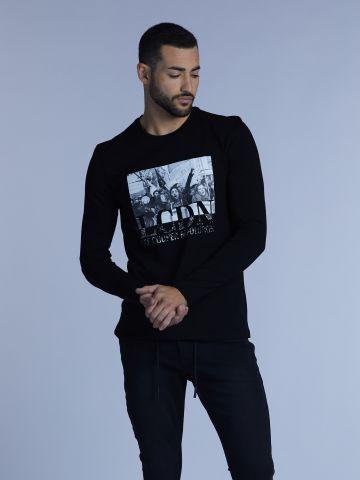 חולצת טי עם הדפס פוטו