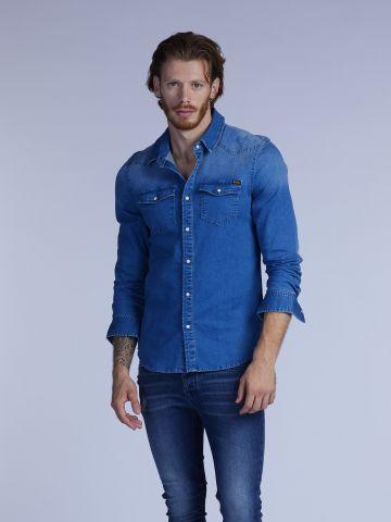 חולצת ג'ינס שני כיסים