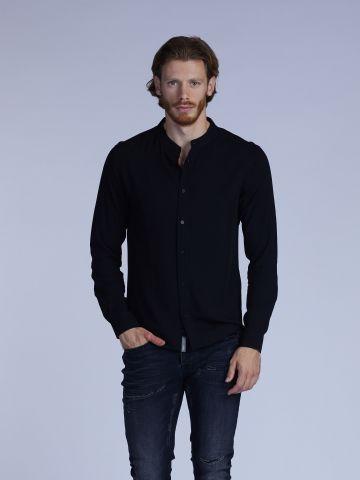 חולצת מכופתרת צווארון סיני