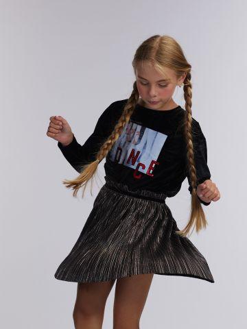 טי שירט קטיפה תמונת רקדנית