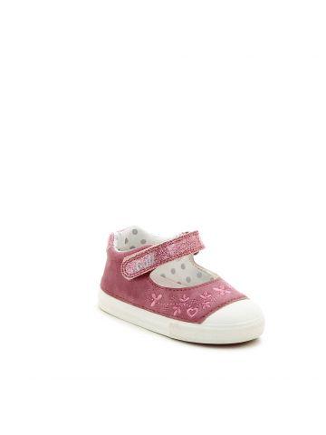 נעלי בובה רקמה פרחונית לילדות