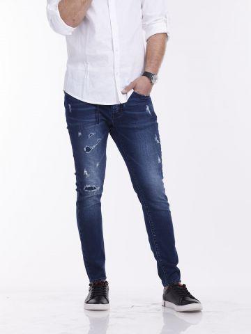 ג'ינס JOGG קרעים סגורים