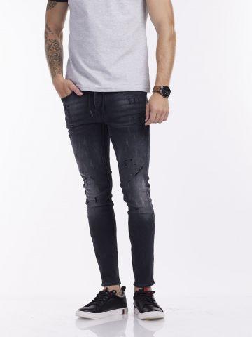 ג'ינס ג'וג אפור גזרת סקיני