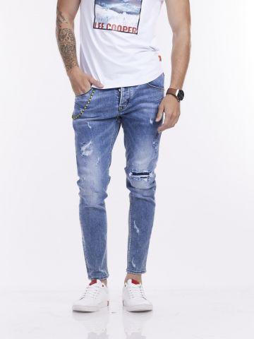 ג'ינס COLIN כחול משופשף