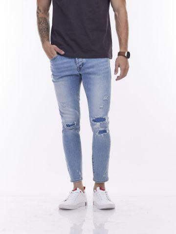 ג'ינס מרטין כחול כהה אחיד