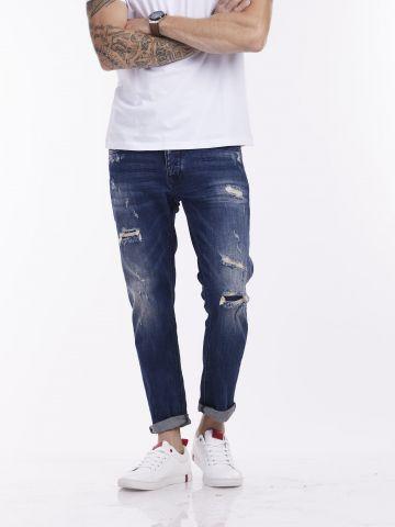 ג'ינס כחול BONO עם קרעים