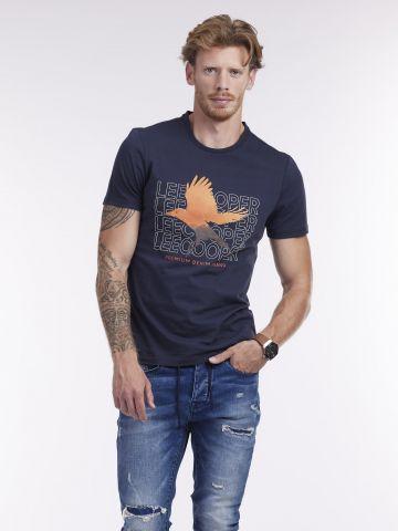 חולצה קצרה עם ציפור