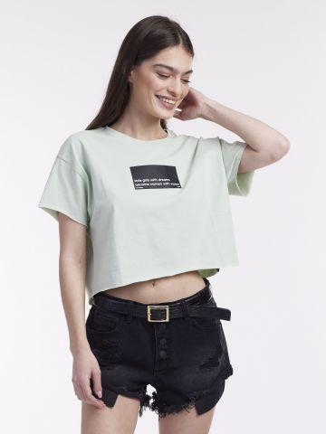 חולצת בטן עם הדפס
