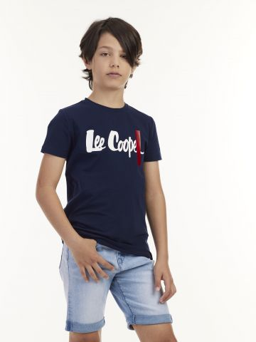 חולצה עם לוגו פס
