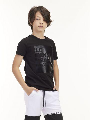 חולצת טי הדפס DENIM