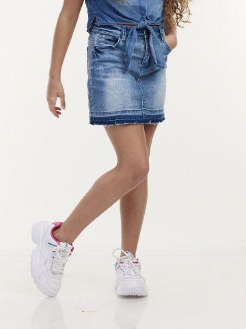 חצאית ג'ינס גזרת A