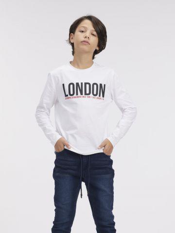 טי שירט עם הדפס LONDON