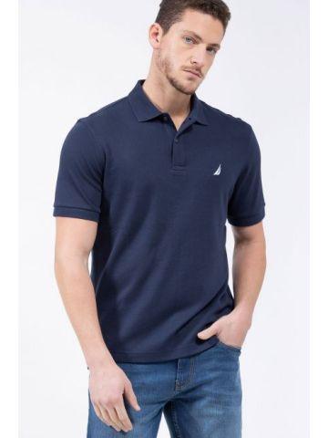 חולצת פולו מכותנה עם רקמת לוגו