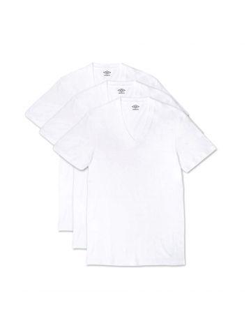 מארז 3 חולצות UMBRO לגברים צווארון וי