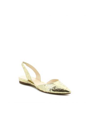 WEREIN נעלי שפיץ זהב שטוחות
