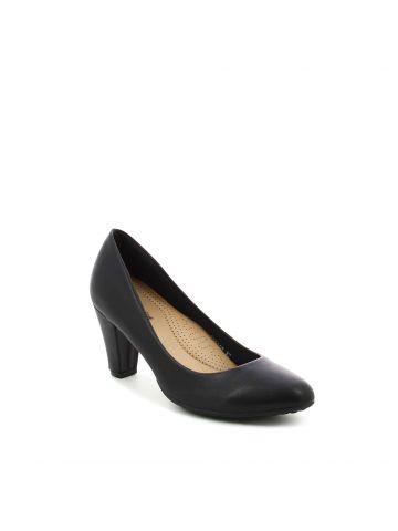 נעלי עקב סירה שחורות
