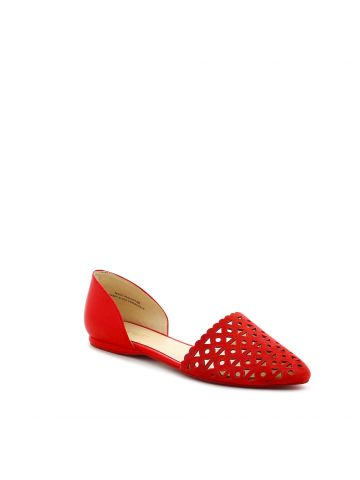 נעלי סירה קאט אאוט אדומות