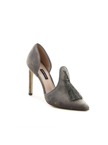 נעלי עקב שפיציות קישוט גדיל