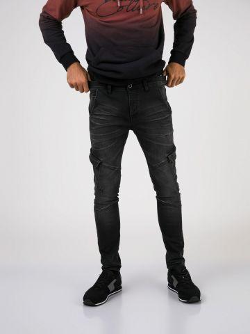 CARGO_JOGG סקיני ג'ינס שחור