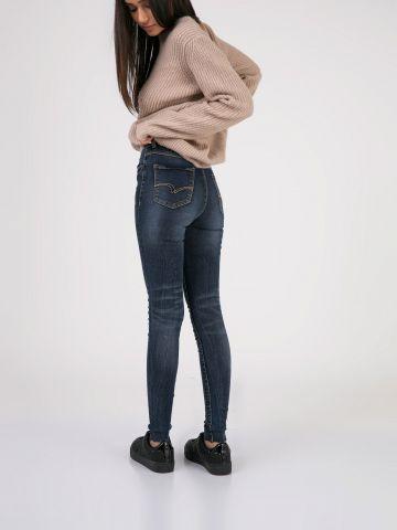 LOLA סקיני ג'ינס חלק וגבוה