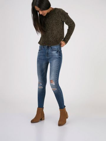 PEARL ג'ינס קרעים משופשף