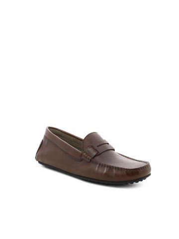 נעלי מוקסין חומות לגברים