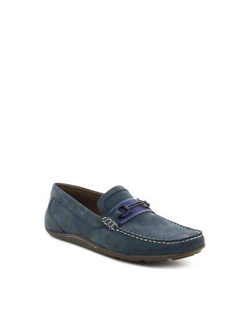 נעלי מוקסין נייבי עם אבזם