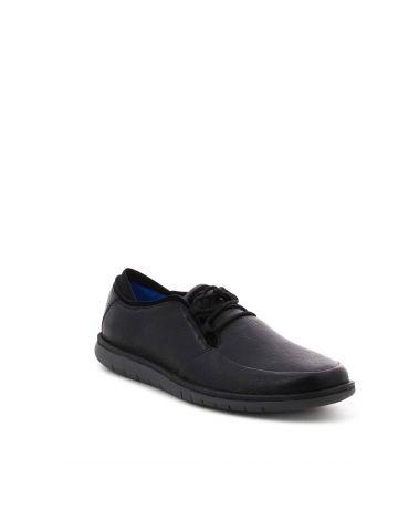 נעלי קז'ואל שחורות עם שרוכים