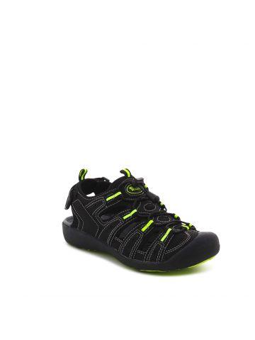 נעלי הליכה שחורות שרוך אלסטי