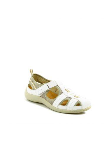 נעלי נוחות שטוחות לבנות