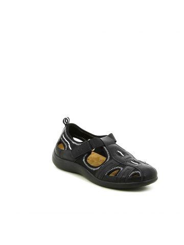 נעלי נוחות שטוחות שחורות