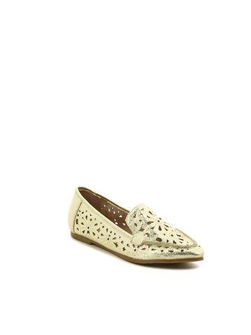 נעלי מוקסין חיתוכי פרחים