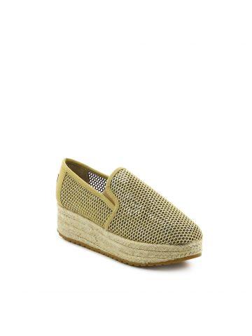נעלי פלטפורמה אספדריל זהב