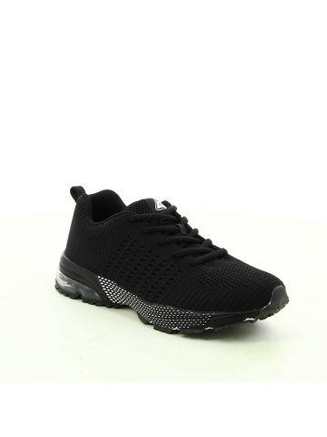 נעלי ספורט סרוגות שחורות