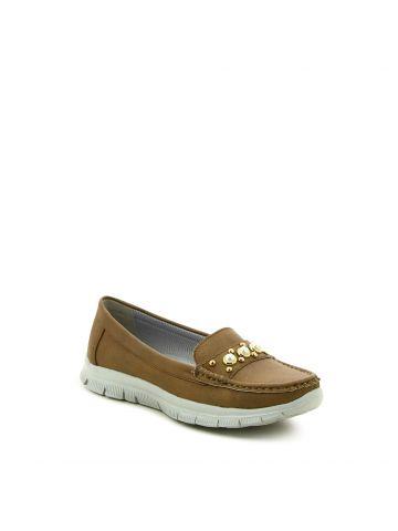 נעלי מוקסין עם פנינים