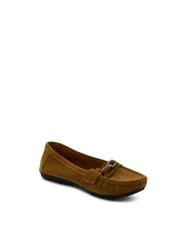 נעלי מוקסין חומות עם אבזם