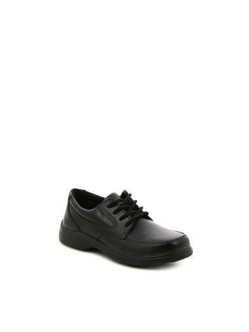 נעלי הליכה שחורות עם שרוכים