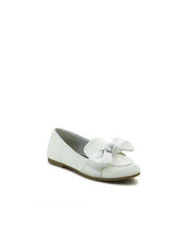 נעלי מוקסין לבנות עם פפיון