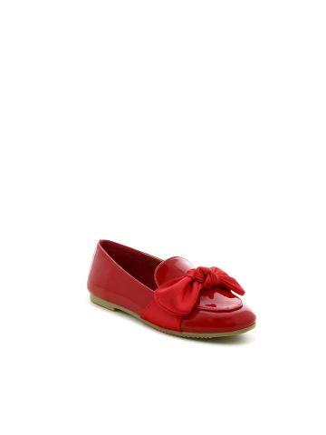 נעלי מוקסין אדומות עם פפיון